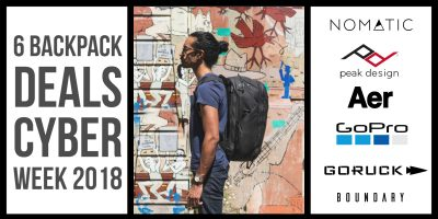Cyber Week Backpack deals 1200x600 1 400x200 - 6 Backpack Deals for this Cyber Week 2018 | Cyber Monday Deals