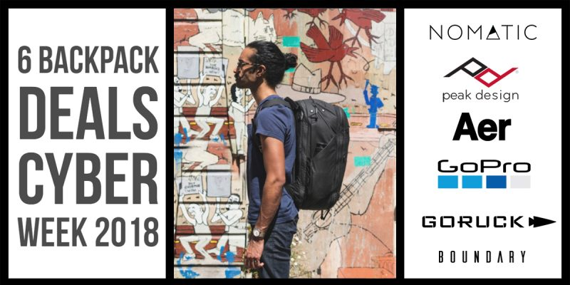 Cyber Week Backpack deals 1200x600 1 800x400 - 6 Backpack Deals for this Cyber Week 2018 | Cyber Monday Deals